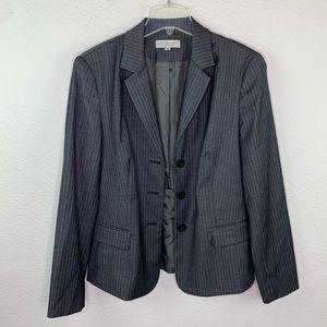 Emanuel Ungaro Gray Striped Wool Blazer A222